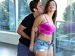 Sexy hot babysitter Keisha Grey gets fucked hard while in