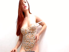 Lovely Redheaded Babe Performed Sucking and Stripping