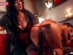 TIny Lullu Gun Cums Hard In Kinky BDSM Session