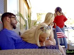 BFFs Sneak Fuck Sleepy Stepbro At July 4th Family BBQ! S5:E12