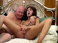 British slut fucks dirty old man