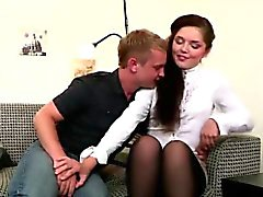 Teen Couple Casual Date Turn Rough Couch Sex