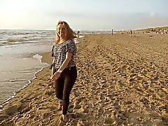 Evening on the beach with Andreea