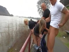 Groupsex-orgy outdoor in germany - riverside the rhine