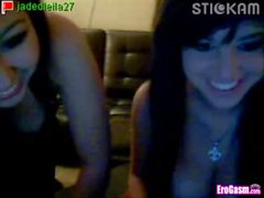 Cute emo teens show boobs on webcam