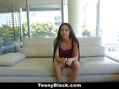 TeenyBlack Cute Ebony Teen Fucked During Castinh