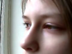 Beata teenager awaiting her boyfriend