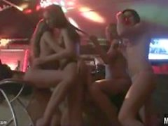 Topless teens all over the cute party