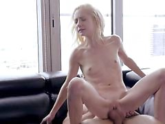 Odette Delacrox seduces a hot neighbor with her spinner