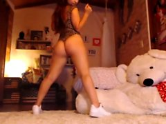 Horniest Amateur Thin Latina 19yo Teen goes solo on Webcam