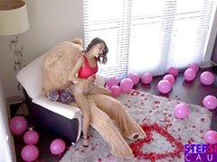 Humping Valentine Teddy Bear With StepBro Inside