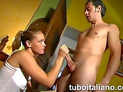 Italian teen babe getting frisky and kinky