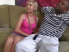 Blonde teen for black cock white guy watches