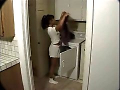 Asian girl surprised in the apartment