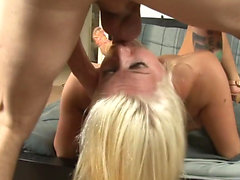 Blonde girl wants his warm cum