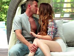 Misha Cross just loves what her new, older neighbor has...