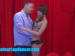 18yo lapdancer gets licking and fingering from older guy