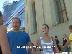 CZECH COUPLES Young Couple Takes Money