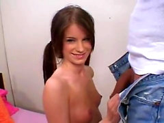 Euro teen blowjob sucks double blowjob