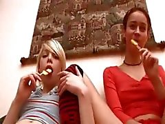 Horny teenies from Russian and lollipops