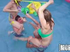 Mofos - Perfect pool party orgy