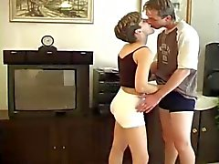 youn hairy pussy girl licked, fingered, fucked & cream pied