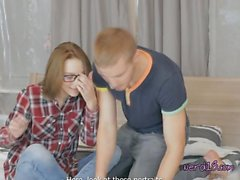 Sexy Geek Edita Seduces School Heartthrob
