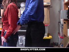 ShopLyfter - Security Officer Caught And Fucked Hot Thief