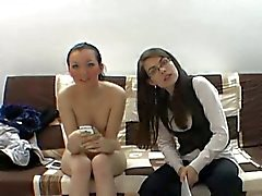 Real czech casting with two sexy friends