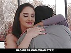 BadMILFS - Sheena Ryder Shares Stepsons Cock with Petite Tee