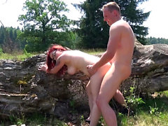 Chubby german redhead amateur teen by outdoor glasses sex