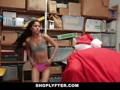 Shoplyfter - Teen Fucked By Santa For Stealing