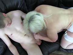 Granny fucks hard with big thick dick