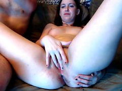 Busty Brunette Jerks For Fetish Handjob