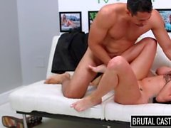BrutalCastings - Hot Brunette Harlow Harrison Fucked on the Casting Couch