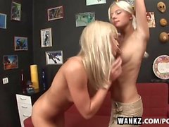 WANKZ Slender Blondes Licking Ass