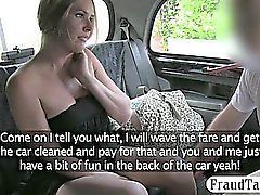 Amateur Big boobs slut ripped at the back seat by driver