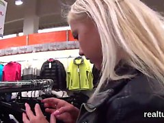 Striking czech teen is seduced in the mall and fucked in pov
