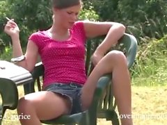 Little Caprice smocking and fucking compilation