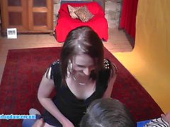 Czech 18yo cutie does her first erotic lapdance