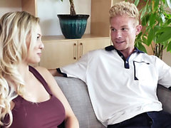FamilyStrokes - Hot Stepmom Rides Stepsons Long Johnson